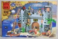 Free Shipping large build block sets, Pirates Rob Barrack 366pcs, enlighten bricks  educational toys kids toys gifts.