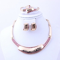 2013 NEW Free Shipping African Gold Plated Charming Fashionable christmas jewellery  Bridal necklaces set gold fashion 2013 new
