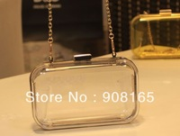 free shipping 6 colors 2013 new candy cute chain bags transparent handbags lady brand clear clutch bags wholesale