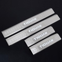 New Blue LED  Inner Door Sill Scuff Plate Cover Trim fit for VW Volkswagen Tiguan 2010 2011 2012 2013 SUV