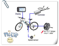 Electric Bike Kit (Meter+Controller+Motor+Torque sensor+Speed Sensor)  24V/36V/48V