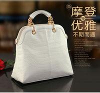 2012 New arrival good quality composite cow leather CROCO modern design women handbag/Shoulder Bag WLHB493