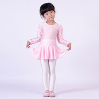 Free shipping Child long-sleeve Latin one piece dance leotard underwear belt ballet skirt gym suit