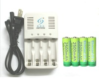 4 Pcs NiZn Ni-Zn 1.6V AA 2500mWh mAh Rechargeable Battery + NiZn smart Charger , Much Powerful and stronger than Ni-MH battery