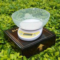 5kg/1g Digital Postal Cooking Food Diet Grams Kitchen Scale OZ LB 5000g  + 18CM Bowl