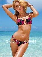 New Arrival  2014 Sexy Women Swimsuit Push Up Padded Beachwear Fashion swimwear Diamond Ornament Strappy Brand Bikini Set