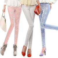 1pcs Free shipping Spring clothing new style panty Cultivate one's morality Show thin Bud silk leisure trousers #A0028