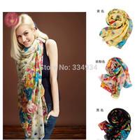 Fashion  Joker Fields Garden Flower  Scarf, Stole, Shawl, wrap, Large Cape for women / girl  Many colors