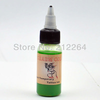 Temporary Airbrush Tattoo Common Ink / pigment  for Body Tattoo Stencils - 30ML / Bottle -Cyan  free shipping TO USA BY DHL