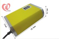 free shipping car battery charger 12V 6A  yellow for car