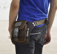 2014 fashion canvas waist pack man bag small waist  male shoulder bag messenger casual bag
