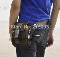2014 fashion canvas waist pack man bag small waist  male shoulder bag messenger casual bag