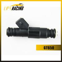 high performance parts GT650 high flow 650cc 65lb EV6 injection turbo fuel injectors black nozzle