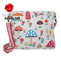 FREE SHIPPING summer blossom bag brand women messenger bag stylish cath canvas college bag for girls polka dot cross body bag