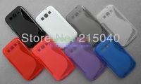 Free Shipping! Galaxy Win Anti-skid Matte S Line Soft TPU Gel Back Cover Case for Samsung Galaxy Win i8552, SAM-043