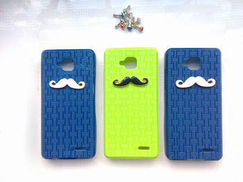 HK Post fast delivery free shipping Original JIAYU G3 Silicon Case cover Chaplin Sexy 3D Beard Mustache