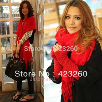 Winter Korea Women Multicolor Long Large Warm Soft Wrap Scarf Shawl Tassels New CY0344 Free Shipping Dropshipping