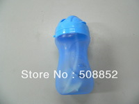 Free shipping,children's PP water bottle with straw  wholesale