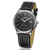 uartzFine Men Homme Watch Q Hours Best Fashion Simple Genuine Leather Water Resistant Business Rhinestone Gift 369L