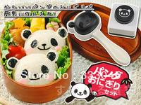FREE shipping kawaii DIY 3D plastic panda sushi mold rice ball maker sushi tool seaweed cutter bento japanese sushi mould 5stes