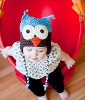 On Sale! Baby Autumn & Winter Hat Kids Knitted Ear Muff Cap Baby Crochet Ear Hat Lovely Owl(5pcs/lot)Free Shipping