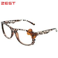 ZEST  New Fashion Glasses Frame Hello Kitty Glasses Butterfly Frame No Lens Glasses Empty Frames