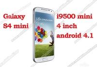 New arrival 4.0 inch mini i9500 S4 android 4.2 1GHZ smartPhone capacitive screen cell phone drop ship free shipping+Gifts