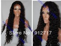 Stock !!! brazilian human hair deep wave  glueless full lace wigs virgin hair free shipping