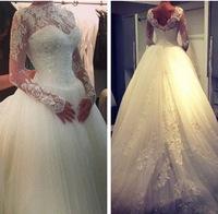 Free shipping 2015 New Arrival Lace Formal dress tube top princess dress luxurious Wedding dress Bridal Gown Vestido De Novia