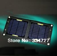 Portable Outdoor Folding 6W Solar Panel  Monocrystalline solar panel Solar charger- Black Free Shipping