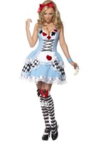 Alice In Wonderland Fancy Dress Hens Party Full Outfit Costume