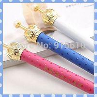 [Amy] free shipping 24pcs/lot South Korea stationery Cute cartoon dream crown ballpoint pen high quality