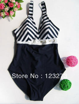 slimming Spa plus size female V-neck push up one piece triangle swimwear slim navy style one piece swimwear XL XXL XXXL XXXXL