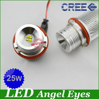 25W E39 E53 E60 E61 E63 E65 E66 E87 Cree Auto Lamp LED for BMW Angel Eyes Marker Bulbs for BMW 5 6 7 Series X3 X5 LED Marker