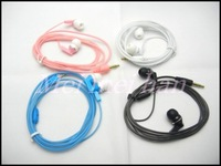50PCS/lot Crystal Line Earphone Headphone For iPod MP3 MP4 Sony 4 color With Retail Package Free Shipping
