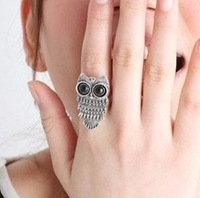 2014 High quality Fashion vintage Classic Punk Bronze/Silver Pretty Lovely Owl Rings Accessories Cheap Wholesale Hot sales PD22