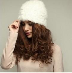 Chopop Fur Knitted rabbit fur hat cap fur headgear headdress popular Beanies hat 9 colors OEM/ Wholesale(China (Mainland))