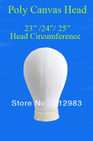wholesale--10 pcs/lot canvas block display mannequin manikin styrofoam head extension/weft/wig style styling head Poly inside