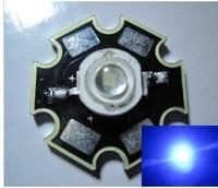 Freeshipping! 20PCS 3W Blue  LED   DC3.5-3.8V  40LM promote plant light wavelengths  440-450nm with 20mm Star Platine Heatsink