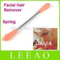 500pcs/lot # Pink Orange Color Face Facial Hair Spring Remover Removal Threading Tool Stick Epilator Epistick Sticks DIY