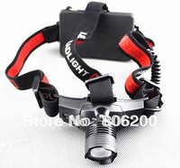 Free Shipping, Hot sale Ultra-Bright CREE 3W black Head Lamp 160 Lumen - Zoom Beam Function
