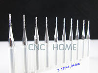 10 pcst 3.175*1.0*4.0mm Micro Tungsten Steel Ball Nose Mill,3D Relief Carbide End Mill,CNC Router Bits,Quality Cutting Tools