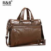 Hot sale!! men genuine leather handbag shoulder bag business laptop bag, free shipping