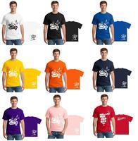 Free Shipping Men Customized T Shirts Logo Design Photo Custom Screen Digital Printing Personalized Wholesale 100% Cotton Solid
