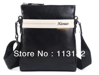 Free shipping Male shoulder bag genuine leather messenger bag man bag cowhide color block fashion male shoulder bag
