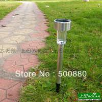Free Shipping Hot Sale Wholesale Solar light 3pcs/lot Aluminum high quality Solar Garden Lamp white light color