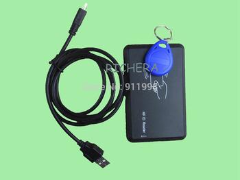 Brand New Proximity Door Waterproof EM4100 USB RFID 125KHZ Reader & Writer ID card Copier Duplicate & 5pcs Free Rewritable Tag