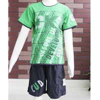 2-pc clothing set ! Summer 2014 boy t-shirt and pants New fashion style size  6-14 wholesale 2196K Free Shipping