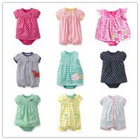 Retail, Original Carter's Baby Girls Beautiful Short Sleeve Romper,Baby Girls Summer Romper,  Freeshipping(in stock)