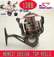 High quality newest spinning   fishing reels , 12+1BB  6000size Metal reels , fishing rolls  fishing tackle